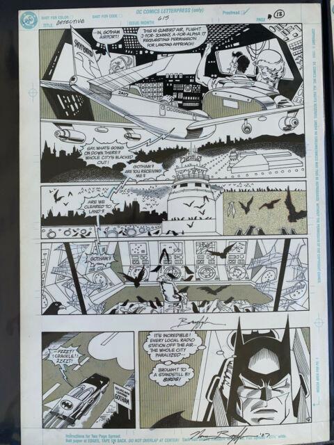 Norm Breyfogle Batman Original Art Signed