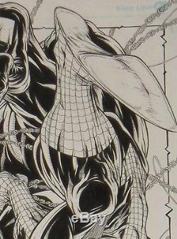 ORIGINAL 11 x 17 PENCIL SKETCH AMAZING SPIDERMAN VENOM BY JAMIE BIGGS
