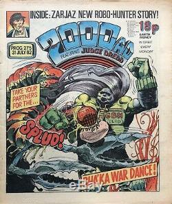 ORIGINAL ART Carlos Ezquerra. 2000AD Prog 275 (1982) Judge Dredd Fungus