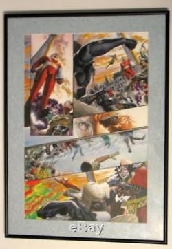 ORIGINAL ART KINGDOM COME #3 Page 8 w Printers ACETATE Alex Ross Hand Signed