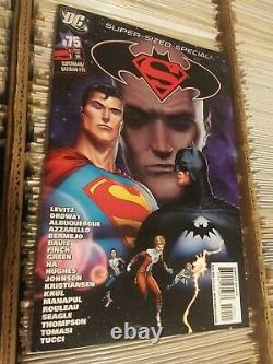 ORIGINAL Art Shane Davis page Inks & signed by Sandra Hope Superman Batman #75