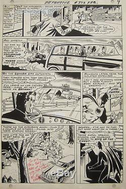 Original Batman Comic Art Bob Kane Sheldon Moldoff Joe Giella Detective Comics