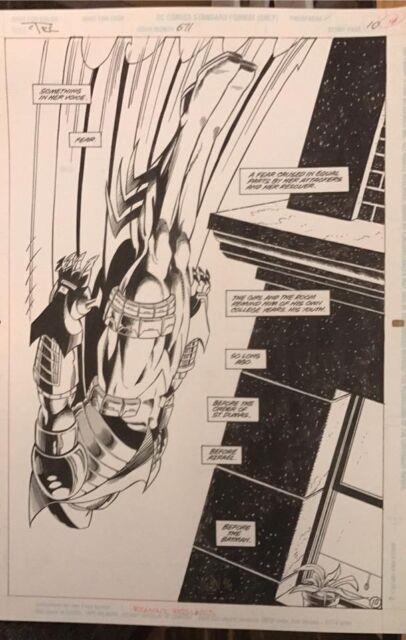Original Detective Comics #671 Pg 10 Graham Nolan Comic Art Page! Knightquest