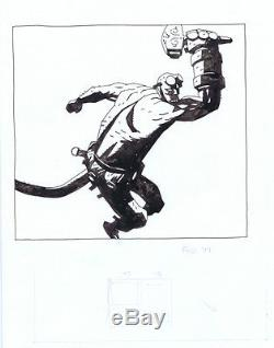 ORIGINAL HELLBOY BONES OF GIANTS ILLUSTRATION by MIKE MIGNOLA