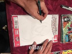ORIGINAL McFarlane Spiderman artwork on SKETCH COVER comic #1