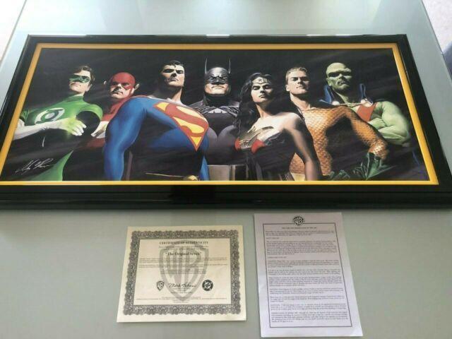 Original Seven Canvas Giclee #96-100 Signed Alex Ross W Coa Justice League