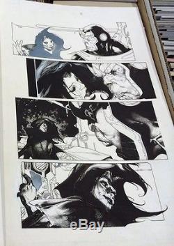 ORIGINAL THANOS RISING #5 PG 11 SIMONE BIANCHI COMIC ART PAGE! Avengers! Movie