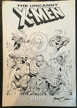 ORIGINAL XMEN UNUSED 1990's POGS PRODUCTION COMIC ART BY MIKE ZECK! SIGNED