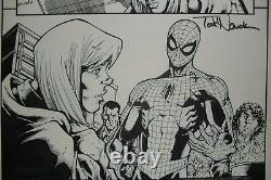 Original Art AMAZING SPIDER-MAN #14 page 8 by TODD NAUCK, signed