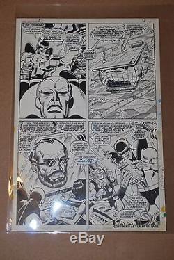 Original Art Avenger 68 pg 6 Sal Buscema Silver Age 1969 Vision Thor