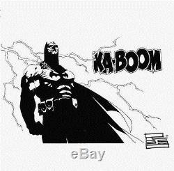 Original Art BATMAN by EDUARDO RISSO 9x12 sketch DC comic SUPER RARE -Collector
