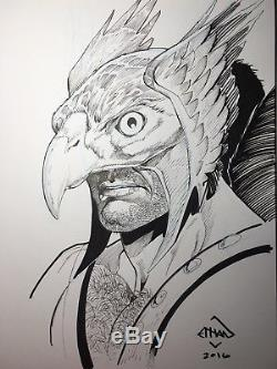 Original Art Bust Sketch Of Your Choice By ETHAN VAN SCIVER