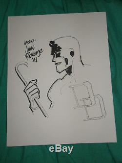 Original Art French Convention Sketch Daredevil By John Romita Jr 1998