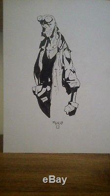 Original Art HELLBOY sketch by Mike Mignola- Rare legend comic art