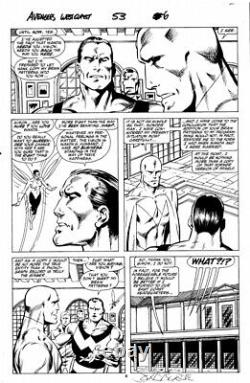 Original Art John Byrne, West Coast Avengers Issue 53, Page 6 WandaVision