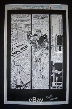 Original Art KEITH POLLARD Signed! DAREDEVIL #342, page 22, Kingpin