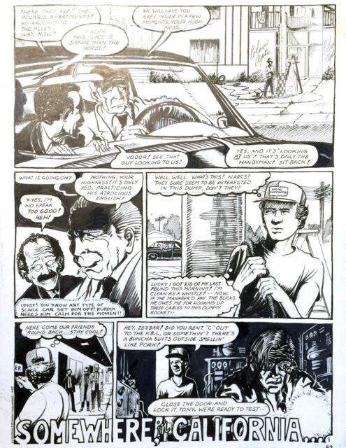 Original Art Page (love And Rockets #2 P. 1/53) Mario Hernandez 1983 (art#0440)