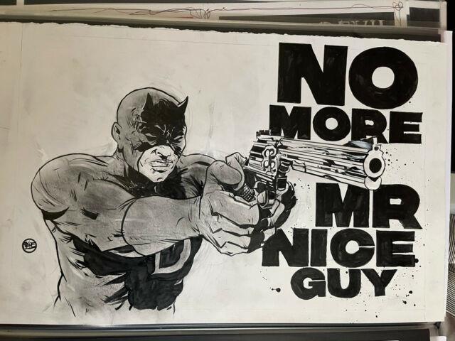 Original Art Paul Pope Daredevil #184 Homage