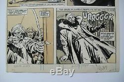 Original Art SAVAGE SWORD OF CONAN #58, pg 39 JOHN BUSCEMA pencil, TONY DEZUNIGA