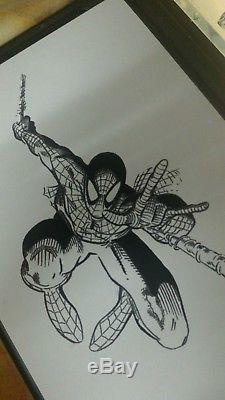 Original Art SPIDERMAN by Arthur Adams -9x12 sketch RARE Comic art Collectible