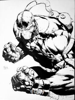 Original Art Sketch Commission Bane by DAVID FINCH 9x12 DC Batman