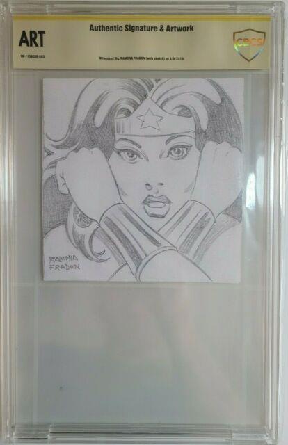 Original Art Sketch Of Wonder Woman By Ramona Fradon Cbcs Authentic (cgc) Wow