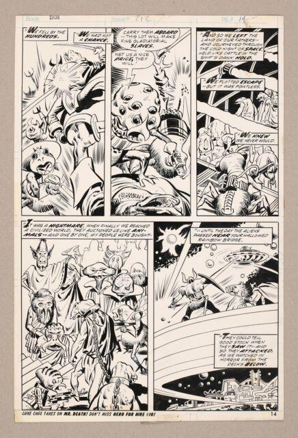 Original Art Thor Issue 212 Pg 14 By John Buscema Don Perlin & Vince Colletta