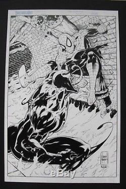 Original Art WARREN MARTINECK Spider-Man vs Venom unpublished page, Norman LEE