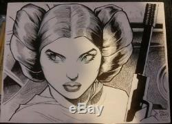 Original Arthur Adams Art Sketch Princess Leia Star Wars XMen longshot Wolverine