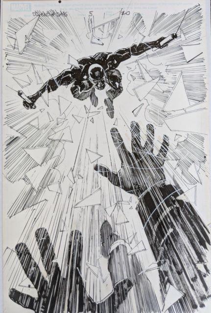 Original Artwork, Bill Sienkiewicz Daredevil End Of Days #5 Page 20