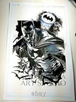 Original Batman Comic Book Art by Cris Delara