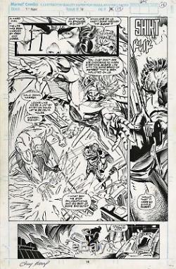 Original Comic Art 1993 X-MEN #16 PAGE 18 SPLASH Andy Kubert