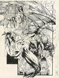 Original Comic Art Ascension David Finch Top Cow DPS Double Page Splash