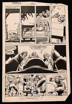 Original Comic Art-Daredevil #210 pg. 11 David Mazzucchelli Denny ONeil King Pin