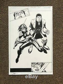 Original Comic Art JIM LEE Katana SUICIDE SQUAD full page splash signed sketch 1