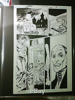 Original Comic Art JLA Issue 94 Pg 16 Superman Crucifier John Byrne Jerry Ordway