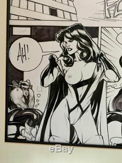 Original Comic Art Page-ADAM HUGHES-Penthouse ComiX. Sexy girl, nudity! Pin-Up