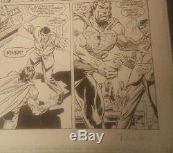 Original Comic Art Pages Superman issue 90 pg 12 Signed Joe Rubinstein 1994