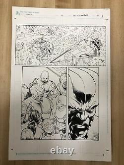 Original Comic Art Star Wars Legacy Issue 42 Pencil & Ink Dan Parsons Dave Ross