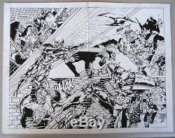 Original Comic Art Vampirella/Shadowhawk #1, Image, 1995. Double Page Splash