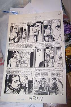 Original Comic Art by GEORGE EVANS - EC Comics CRIME SUSPENSESTORIES #21 PAGE 4