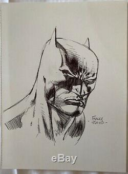 Original DAVID FINCH Batman Comic Art Sketch