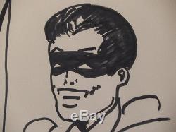 Original Drawing Batman Robin By Bob Kane