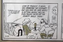 Original Framed GB TRUDEAU DOONESBURY Comic Strip Art NO RESERVE 3-19-78