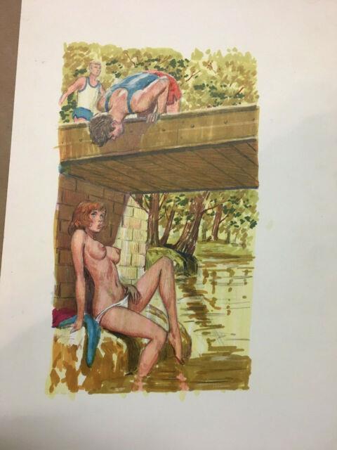 Original Greenleaf Art Adult Book Ab5263cover Illustration 9.5 X 13.5 Painting