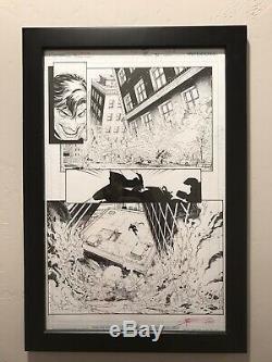 Original Greg Capullo Batman Art Sketch Page