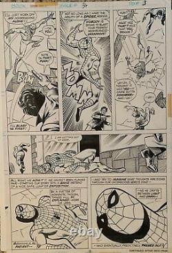 Original MARVEL TEAM UP #36 Page 3 Sal Buscema COMIC ART PAGE! Spider-Man