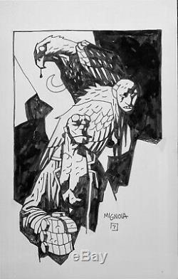 Original Mike Mignola Hellboy Eagle Ink Drawing