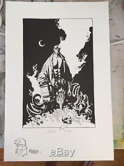 Original Mike Mignola Hellboy Print