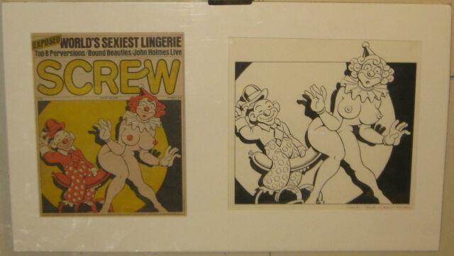 Original Paul Kirchner Screw The Sex Review Magazine Cover Illustration Painting